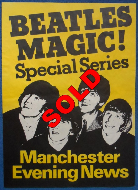 1960 S The Beatles Manchester Evening News Newspaper Poster