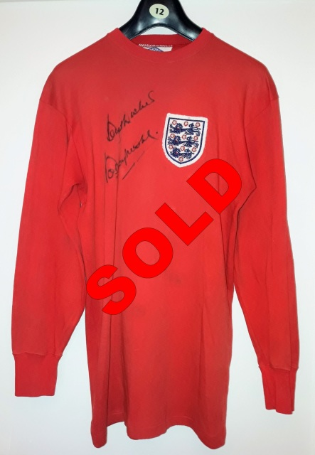 b19d2222650 This is the original match worn shirt used by captain Bobby Moore in  England s international friendly away to Poland on 5th July 1966. It was  the Three ...